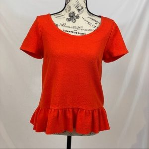 9-H15 Red Blouse Size Small